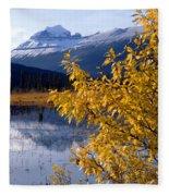 1m3626-mt. Saskatchewan In Fall Fleece Blanket