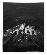 Mt Shasta Black And White Fleece Blanket