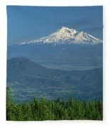 1a5637-mt. Shasta From Oregon Fleece Blanket
