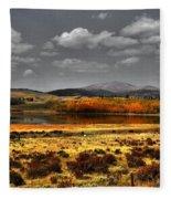 Mt. Silverhills In Silver Fleece Blanket
