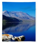 Mt St Helens Reflecting Into Spirit Lake   Fleece Blanket