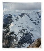 T-703510-mt. Victoria Seen From Mt. Lefroy Fleece Blanket