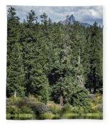 Mt Washington Behind Clear Lake Fleece Blanket
