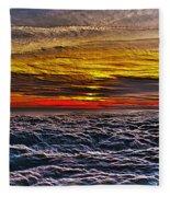 Mt Wilson Sunset Fleece Blanket