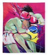 Muay Thai Fleece Blanket