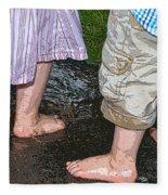 Mud Puddles Fleece Blanket