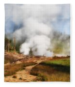 Mud Volcano And Sulphur Caldron  Fleece Blanket