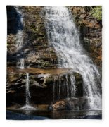 Muddy Creek Falls At Low Water At Swallow Falls State Park In Western Maryland Fleece Blanket