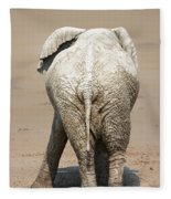 Muddy Elephant With Funny Stance  Fleece Blanket