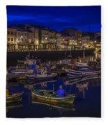 Mugardos Port Galicia Spain Fleece Blanket