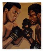 Muhammad Ali And Joe Frazier Fleece Blanket