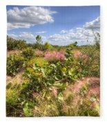 Muhly Grass And Sea Grape Plants Along A Florida Coastline Fleece Blanket