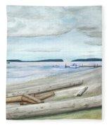 Mukilteo Beach Fleece Blanket