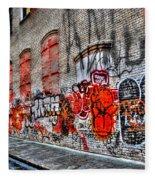 Mulberry Street Graffiti Fleece Blanket