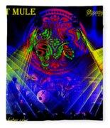 Mule #14 Enhanced Image With Text Fleece Blanket