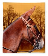 Mule Days - Westmoreland Tn  9-28-13 Fleece Blanket