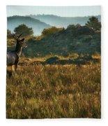 Mule Deer At De Weese Reservoir Fleece Blanket