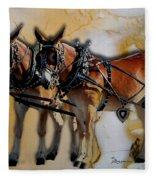Mules In Full Dress Fleece Blanket