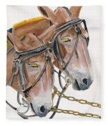Mules - Two - Beast Of Burden Fleece Blanket