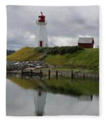 Mulholland Point Lighthouse - New Brunswick Fleece Blanket