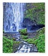 Mulnomah Falls Fleece Blanket