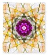 Multi Flower Abstract Fleece Blanket