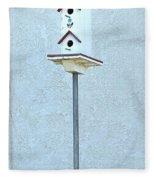 Multi-story Birdhouse Fleece Blanket