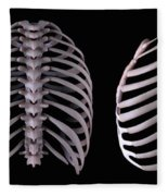 Multiple View Of The Rib Cage Fleece Blanket