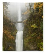 Multnomah Autumn Mist Fleece Blanket
