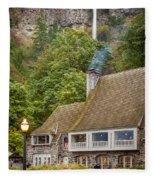 Multnomah Falls Lodge Fleece Blanket