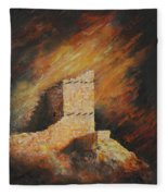Mummy Cave Ruins 2 Fleece Blanket