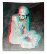 Mummy Dearest - Use Red-cyan Filtered 3d Glasses Fleece Blanket