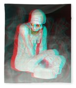 Mummy Dearest - Use Red-cyan Filtered 3d Glasses Fleece Blanket