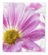 Mums Flowers Against A White Background Fleece Blanket