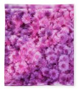 Mums In Purple - Featured In 'comfortable Art' And 'nature Photography' Groups Fleece Blanket