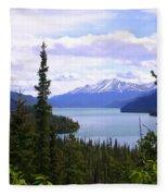 Muncho Lake View Fleece Blanket