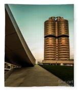 munich - BMW office - vintage Fleece Blanket