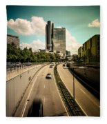 Munich Traffic Fleece Blanket