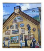Mural In Beaupre Quebec Fleece Blanket