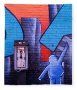 Mural, Nyc, New York City, New York Fleece Blanket