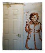 Mural Of Mccourts Mother Angela Fleece Blanket