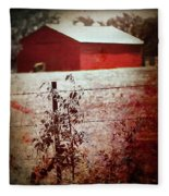 Murder In The Red Barn Fleece Blanket