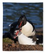 Muscovy Love Fleece Blanket