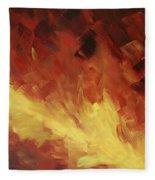 Muse In The Fire 2 Fleece Blanket