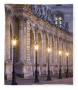 Musee Du Louvre Lamps Fleece Blanket