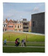 Museumplein Lawn In Amsterdam Fleece Blanket