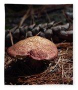 Mushroom And Pine Cone Fleece Blanket