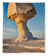 Mushroom Formation In White Desert  Fleece Blanket