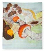 Mushrooms Time Fleece Blanket