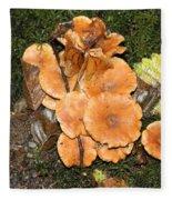 Mushrooms  Fleece Blanket